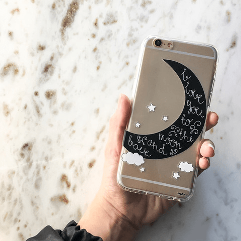 To The Moon And Back - Clear TPU Case Cover