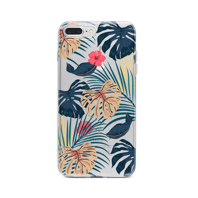 New Day Monstera - Clear TPU Case Cover - Milkyway Cases -  iPhone - Samsung - Clear Cut Silicone Phone Case Cover