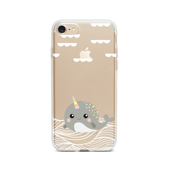 Narwhal - Clear Case Cover Milkyway iPhone Samsung Clear Cute Silicone 8 Plus 7 X Cover