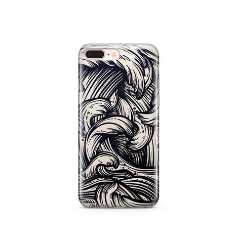 'New Wave' - Clear TPU Case Cover