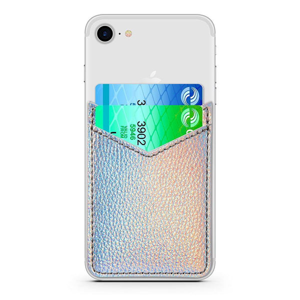 Unicorn Iridescent Card Sleeve - Milkyway Cases -  iPhone - Samsung - Clear Cut Silicone Phone Case Cover
