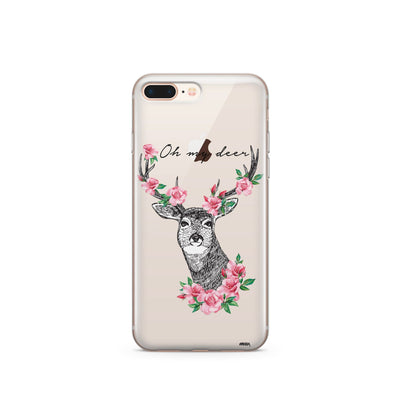 Oh My Deer - Clear Case Cover - Milkyway Cases -  iPhone - Samsung - Clear Cut Silicone Phone Case Cover