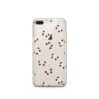 PANDAmonium - Clear Case Cover - Milkyway Cases -  iPhone - Samsung - Clear Cut Silicone Phone Case Cover