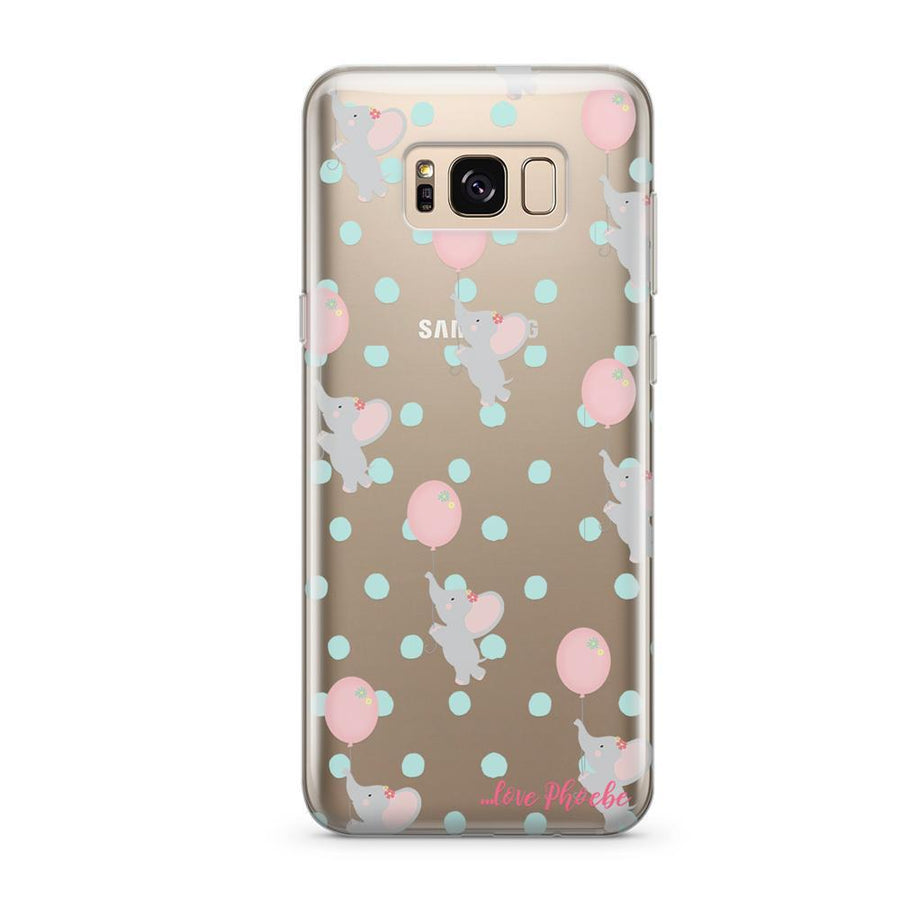 Phoebe X Milkyway Elephants  - Clear Case Cover (Samsung)