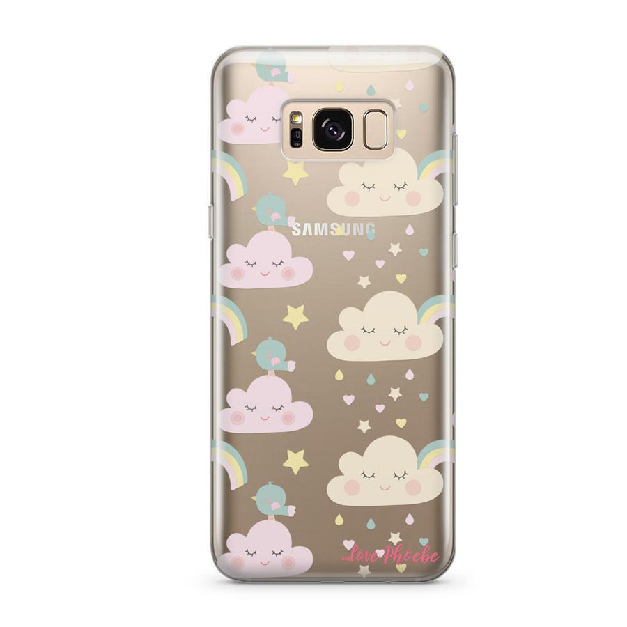 Phoebe X Milkyway Pastel Rainbows  - Clear Case Cover (Samsung)