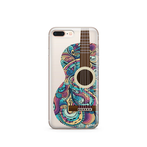 Henna Abstract Guitar - Clear TPU Case Cover