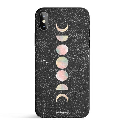 Pastel Moon Colored Candy Matte TPU Case - Clear Cut Silicone Phone Cover - Milkyway Cases
