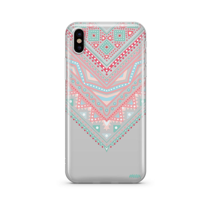 Pastel Aztec Triangle - Clear TPU Case Cover