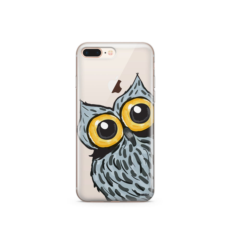 Peeking Owl - Clear TPU Case Cover