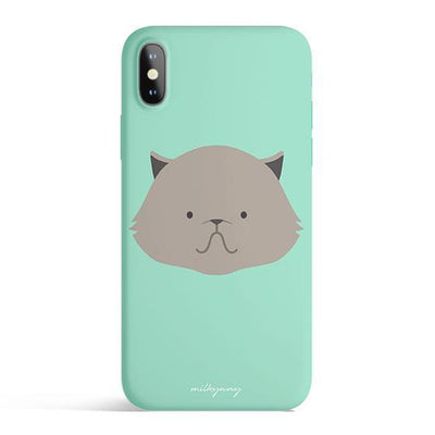 Persian Cat - Colored Candy Cases Matte TPU iPhone Cover