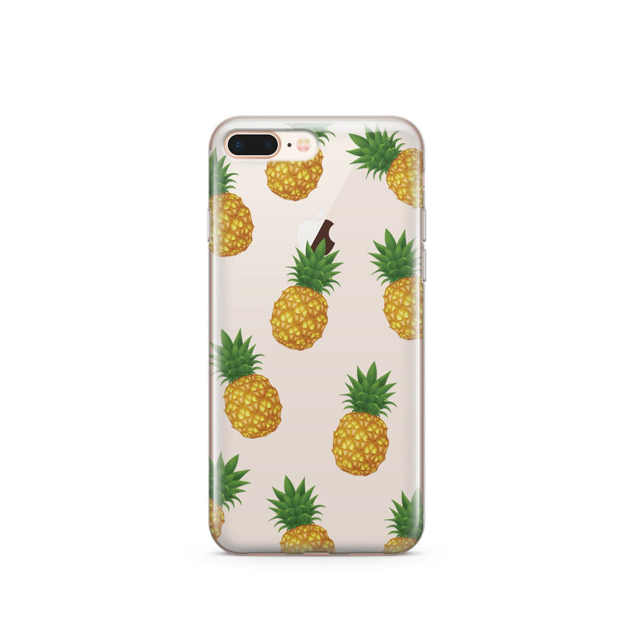 Pineapple Overload - Clear TPU Case Cover - Milkyway Cases -  iPhone - Samsung - Clear Cut Silicone Phone Case Cover