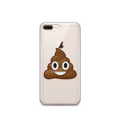 Poop Emoji - Clear TPU Case Cover - Milkyway Cases -  iPhone - Samsung - Clear Cut Silicone Phone Case Cover