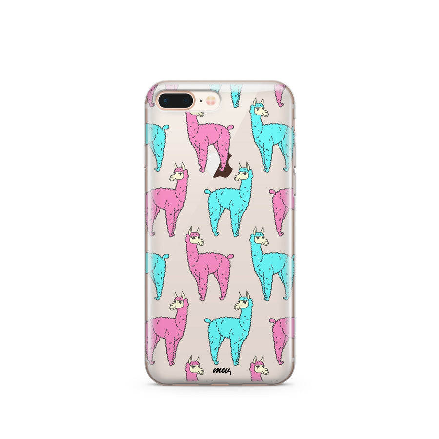 Poppin Llama - Clear TPU Case Cover - Milkyway Cases -  iPhone - Samsung - Clear Cut Silicone Phone Case Cover