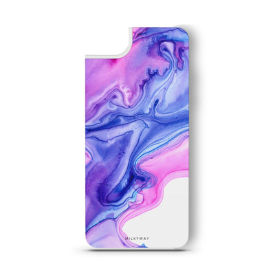 Purple Pink - Slate Backplate - Milkyway Cases -  iPhone - Samsung - Clear Cut Silicone Phone Case Cover