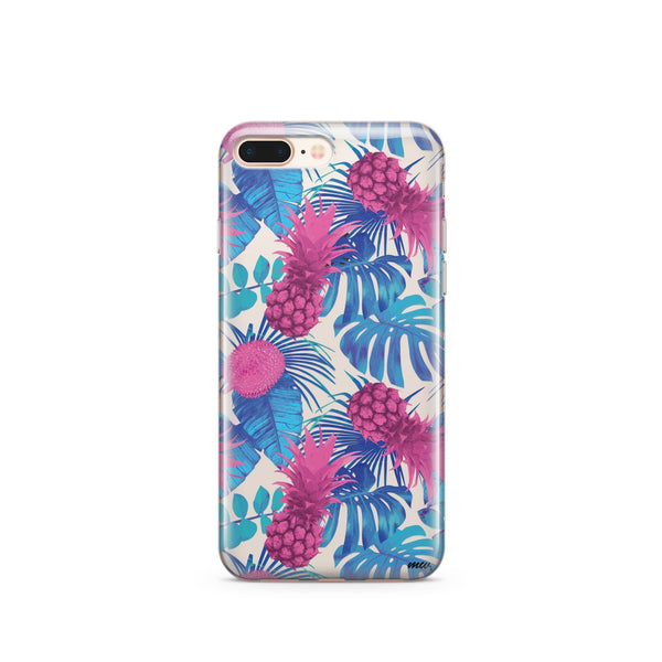 Purple Summertime Pineapple - Clear TPU Case Cover - Milkyway Cases -  iPhone - Samsung - Clear Cut Silicone Phone Case Cover