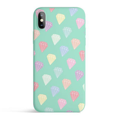 Rainbow Diamonds - Colored Candy Cases Matte TPU iPhone Cover