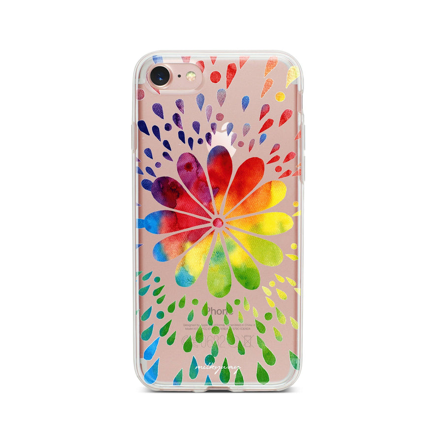 Rainbow Mandala - Clear TPU Case Cover