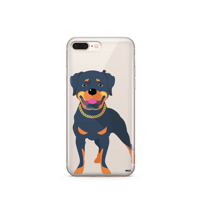 Rottweiler - Clear TPU Case Cover - Milkyway Cases -  iPhone - Samsung - Clear Cut Silicone Phone Case Cover