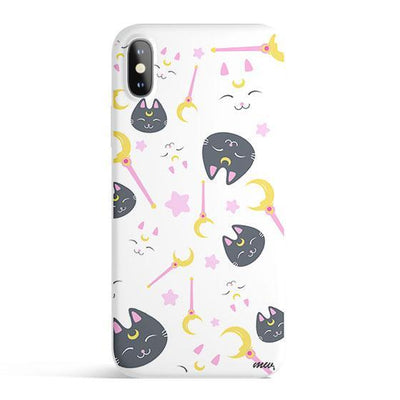 Sailor Kitty - Colored Candy Cases Matte TPU iPhone Cover