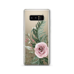 Dusty Pink Rose - Samsung Galaxy Note 8 Case Clear