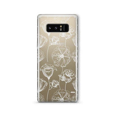 Tulip Garden - Samsung Galaxy Note 8 Case Clear