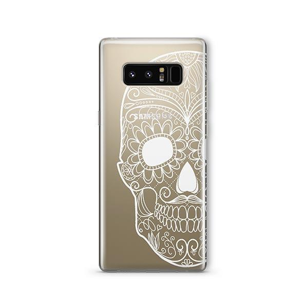 Henna Floral Skull - Samsung Galaxy Note 8 Case Clear