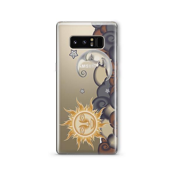 Henna Sun And Moon Samsung Clear Case Milkyway