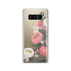 Laurel Floral - Samsung Galaxy Note 8 Case Clear