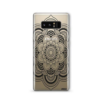 Black Henna Full Mandala - Samsung Clear Case