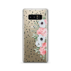 Anemone Rose - Samsung Galaxy Note 8 Case Clear