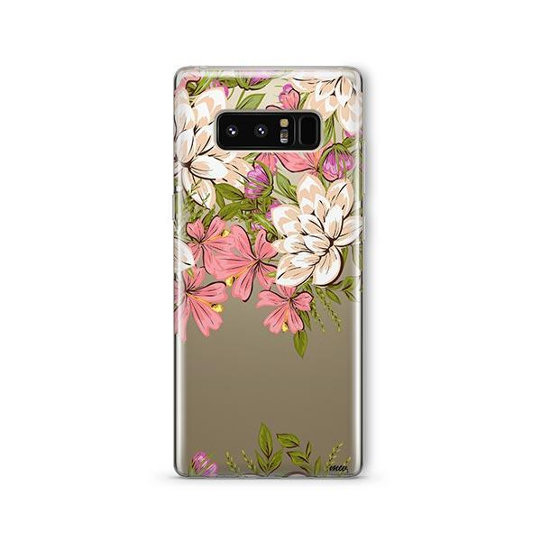 Angela Floral - Samsung Galaxy Note 8 Case Clear