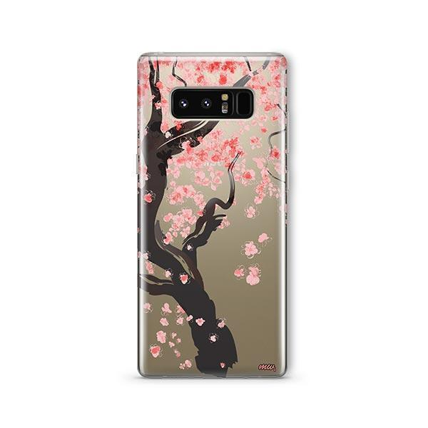 Cherry Blossom Tree - Samsung Galaxy Note 8 Case Clear