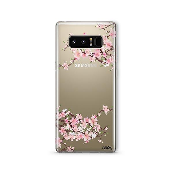 Cherry Blossom - Samsung Galaxy Note 8 Case Clear