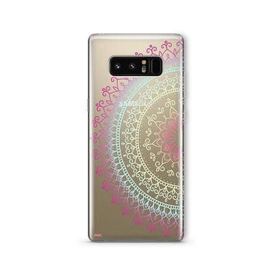 Cotton Candy Mandala - Samsung Clear Case