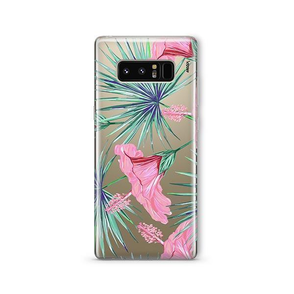 Exotic Hibuscus - Samsung Galaxy Note 8 Case Clear