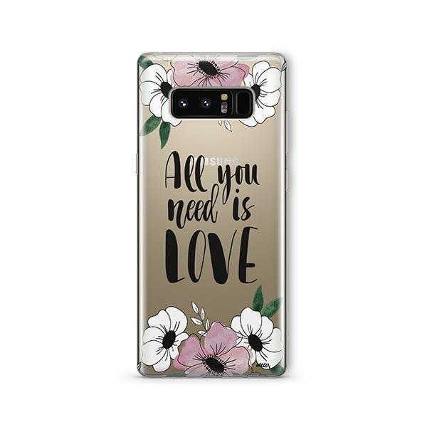 All You Need is Love - Samsung Galaxy Note 8 Case Clear