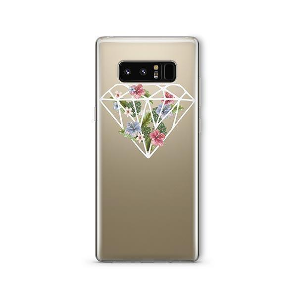 Floral Diamond - Samsung Galaxy Note 8 Case Clear
