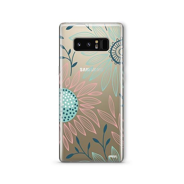 Floral Patch - Samsung Galaxy Note 8 Case Clear