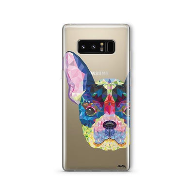Geometric Frenchie - Samsung Clear Case