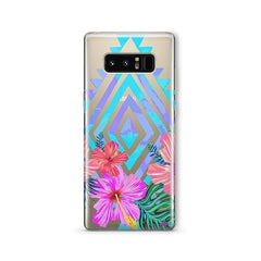 Navajo Hibiscus - Samsung Galaxy Note 8 Case Clear