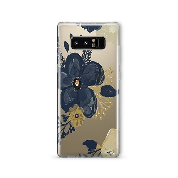 Oprah Floral - Samsung Galaxy Note 8 Case Clear