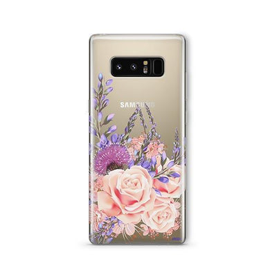 Purple Botanica - Samsung Clear Case