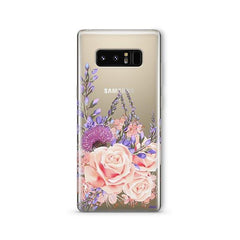 Purple Botanica - Samsung Galaxy Note 8 Case Clear