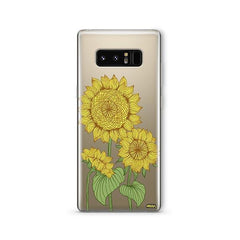 Sunny Sunflower - Samsung Galaxy Note 8 Case Clear