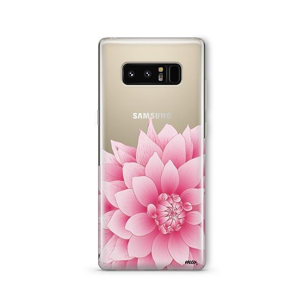 The Dahlia - Samsung Galaxy Note 8 Case Clear