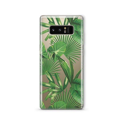 Tropical Palm Leaves - Samsung Clear Case