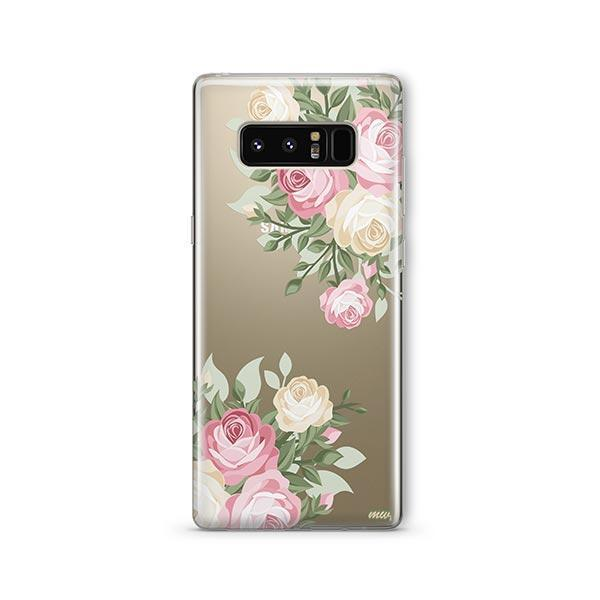 Vintage Roses - Samsung Galaxy Note 8 Case Clear
