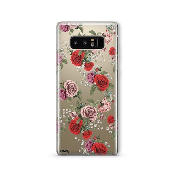 Watercolor Floral Pattern - Samsung Galaxy Note 8 Case Clear