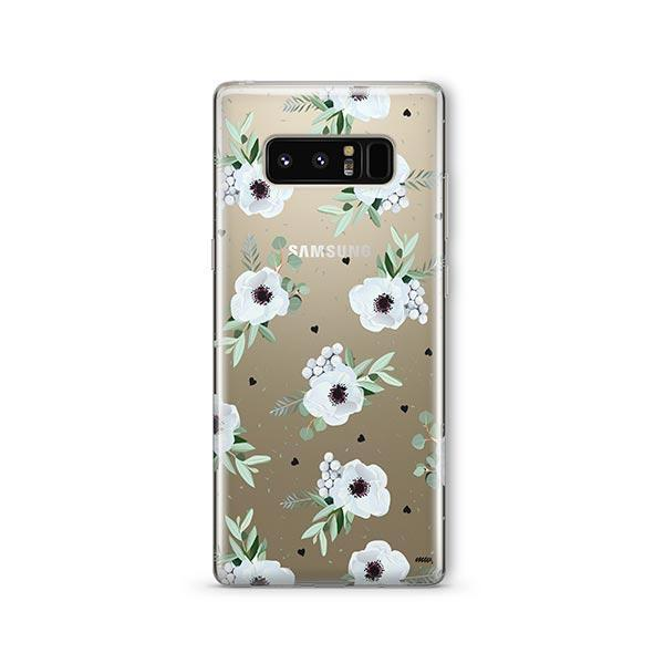 White Blossom - Samsung Galaxy Note 8 Case Clear
