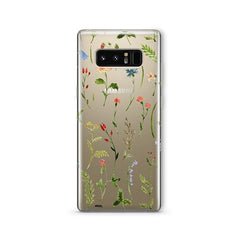 Wildflower - Samsung Galaxy Note 8 Case Clear